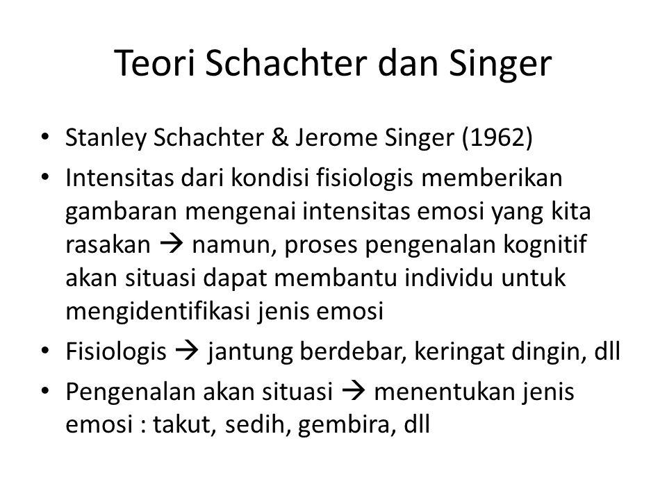 Teori Schachter dan Singer