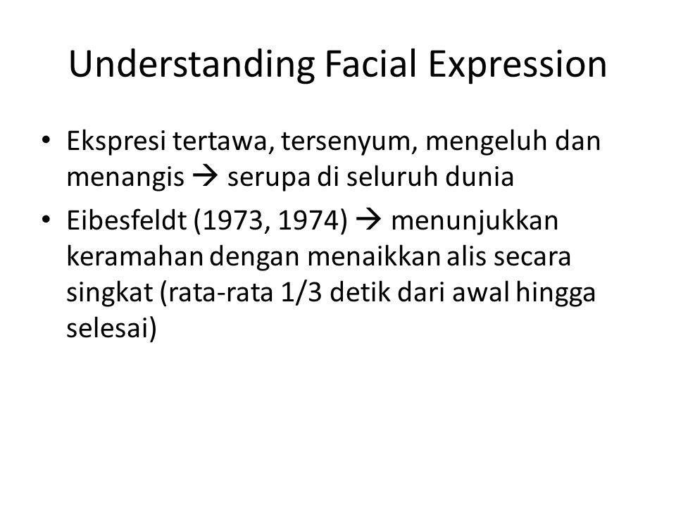 Understanding Facial Expression