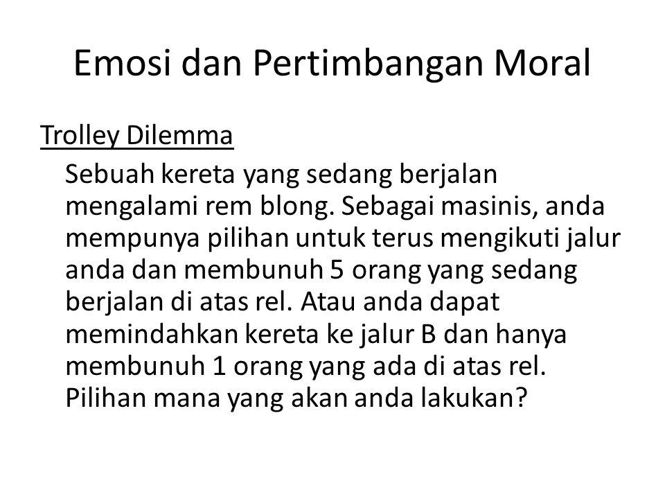 Emosi dan Pertimbangan Moral