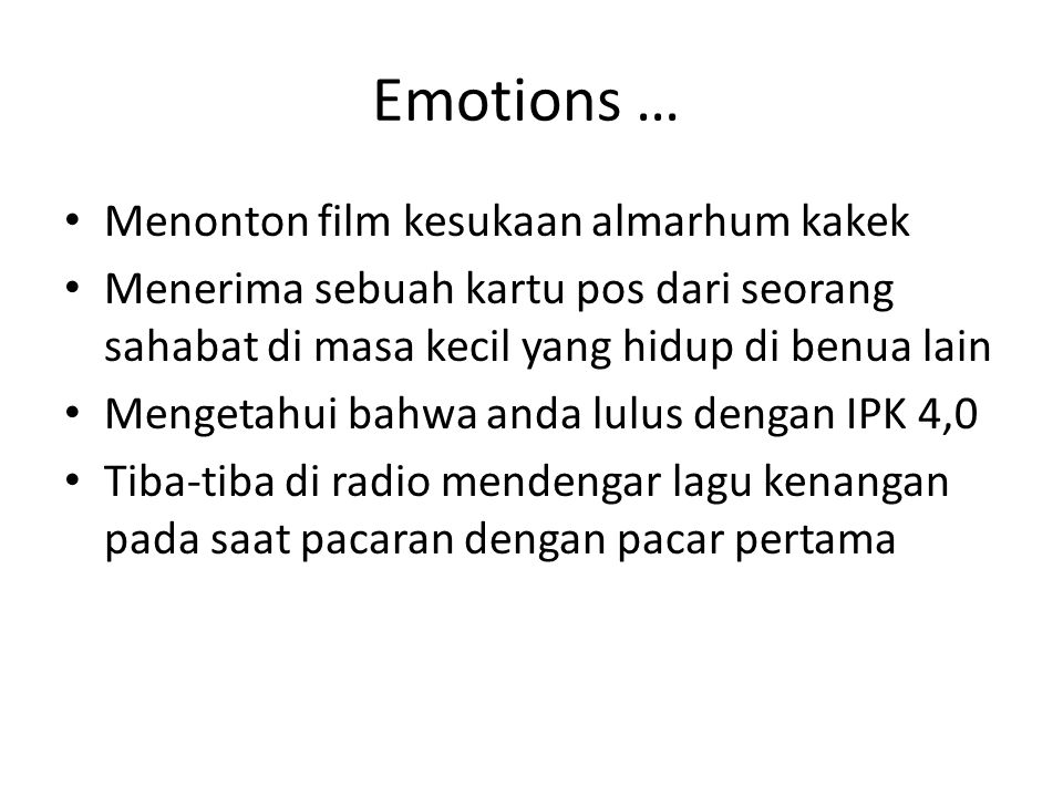 Emotions … Menonton film kesukaan almarhum kakek