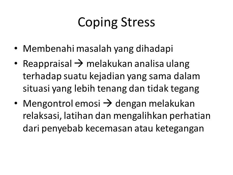 Coping Stress Membenahi masalah yang dihadapi