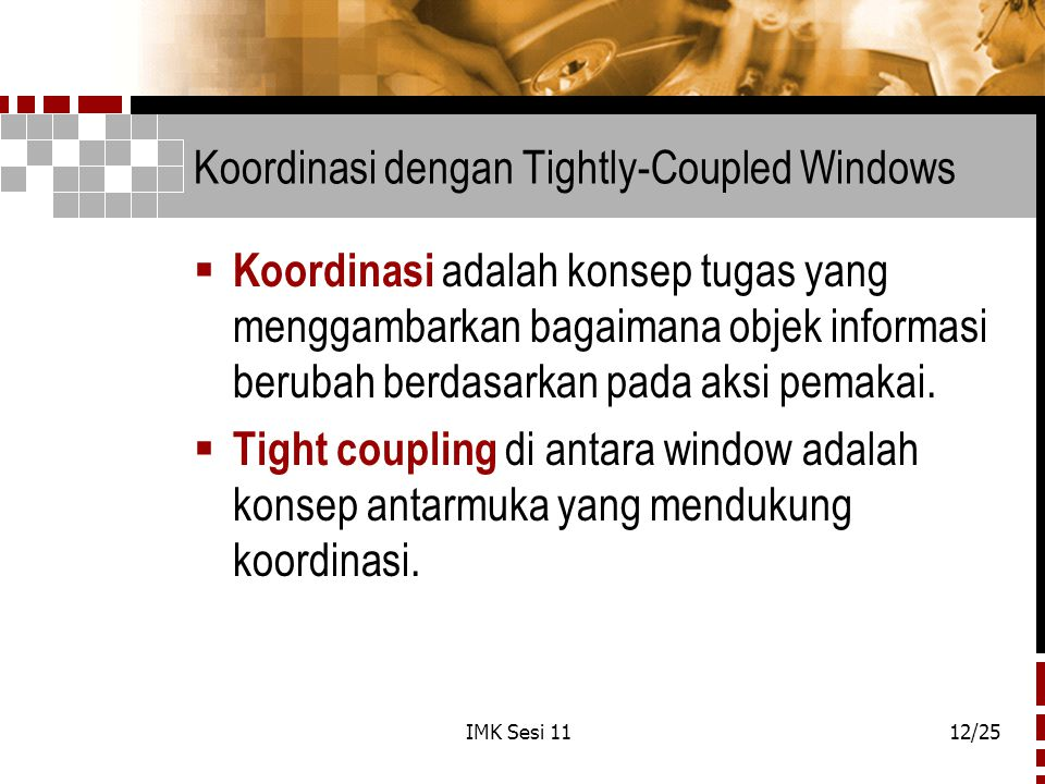 Koordinasi dengan Tightly-Coupled Windows
