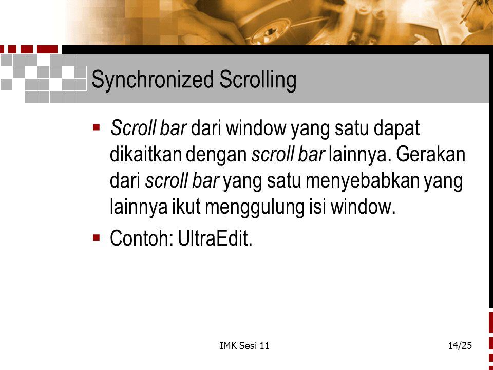 Synchronized Scrolling