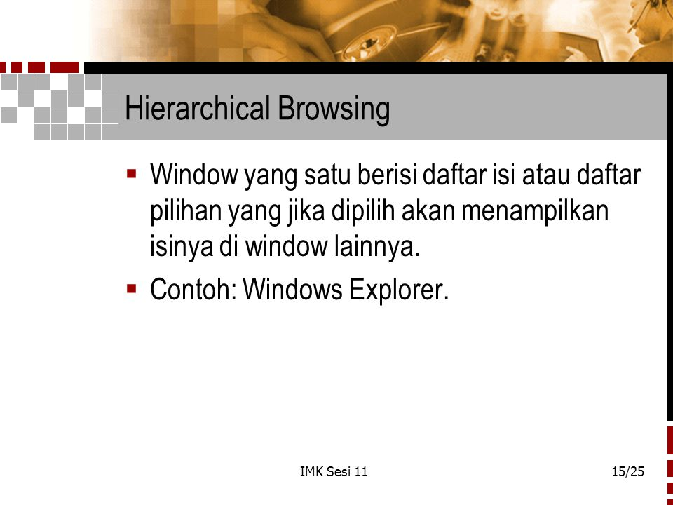 Hierarchical Browsing