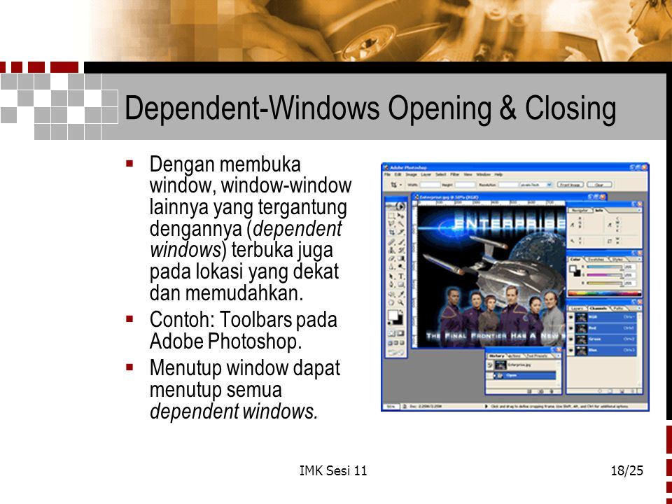 Dependent-Windows Opening & Closing