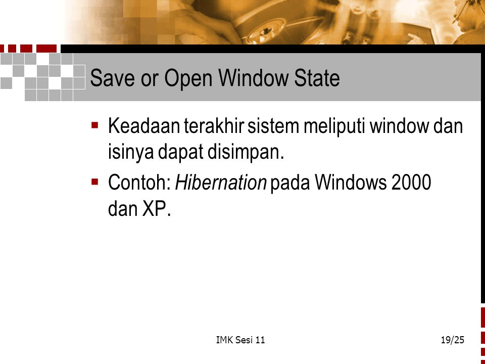 Save or Open Window State