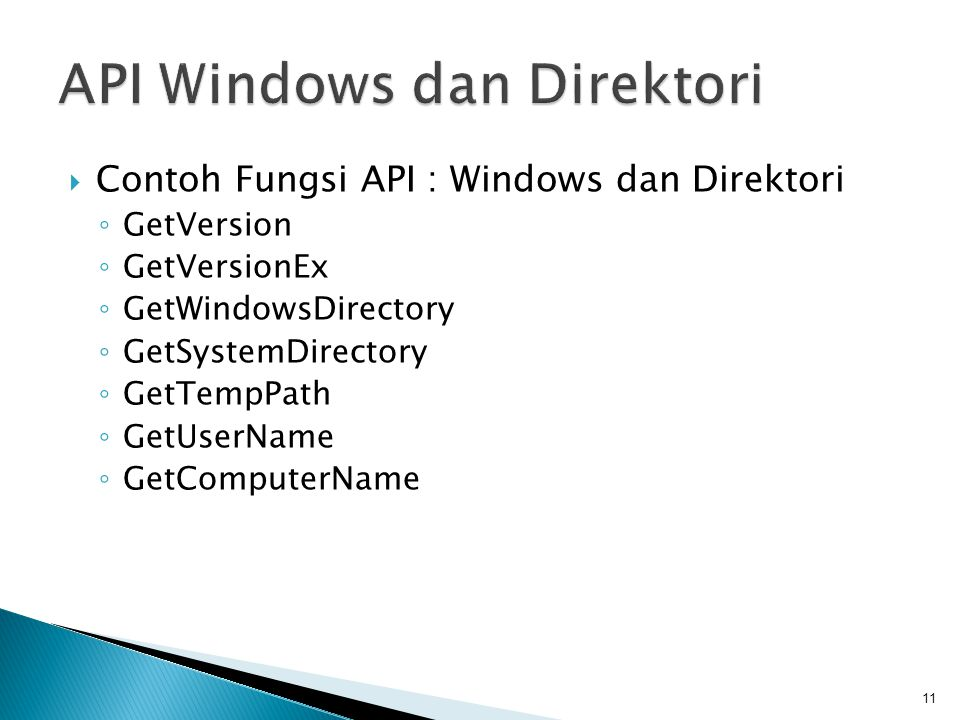 API Windows dan Direktori