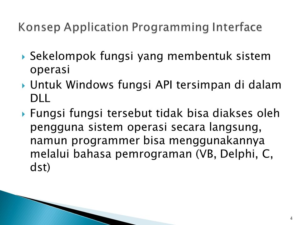 Konsep Application Programming Interface