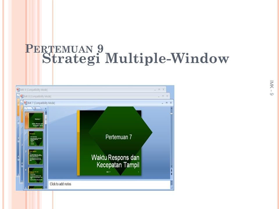 Strategi Multiple-Window