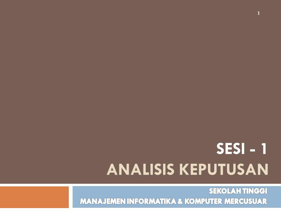 SESI - 1 ANALISIS KEPUTUSAN