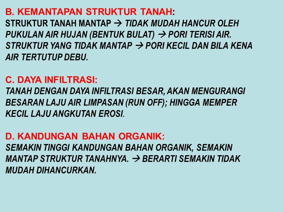 B. KEMANTAPAN STRUKTUR TANAH: