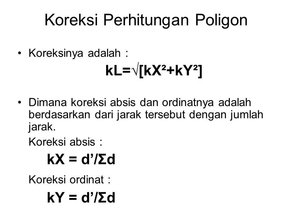Koreksi Perhitungan Poligon