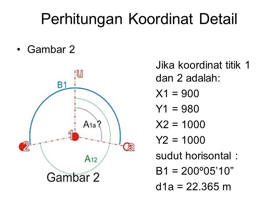 Perhitungan Koordinat Detail