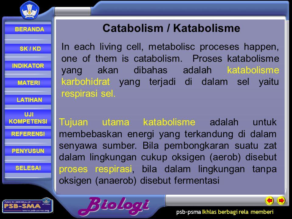 Catabolism / Katabolisme