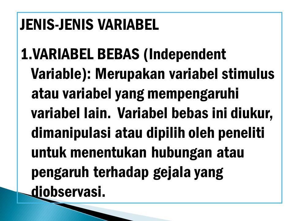 JENIS-JENIS VARIABEL