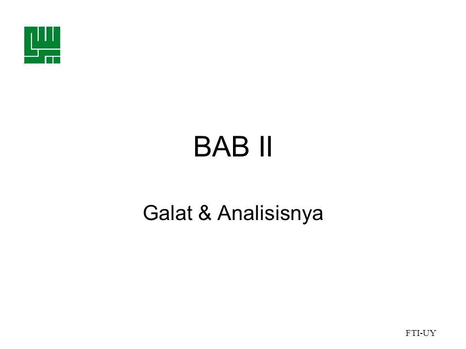 BAB II Galat & Analisisnya