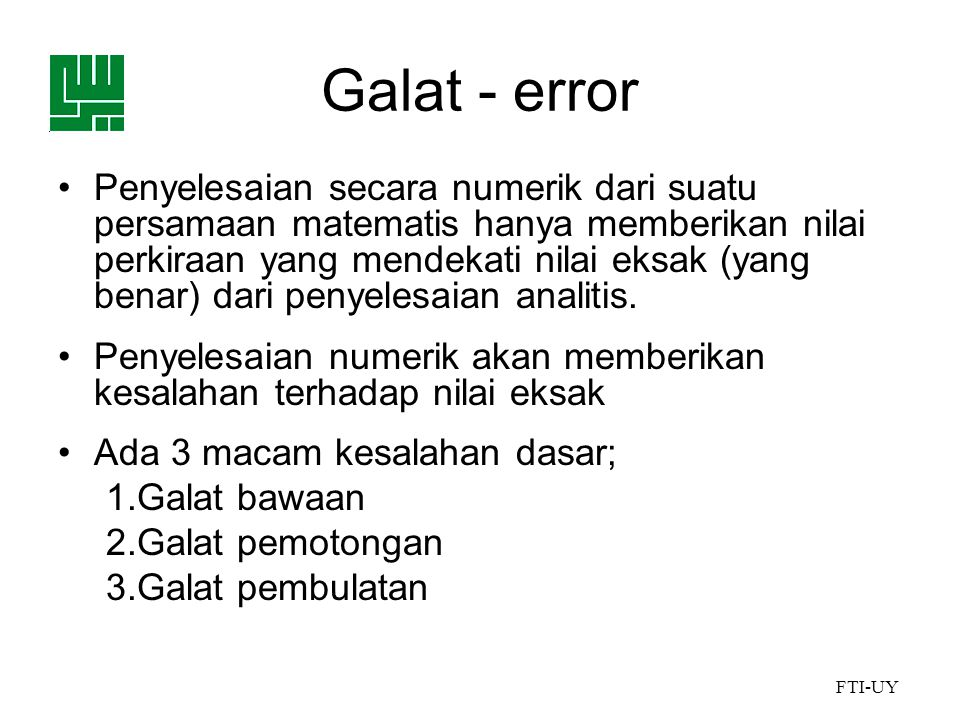 Galat - error