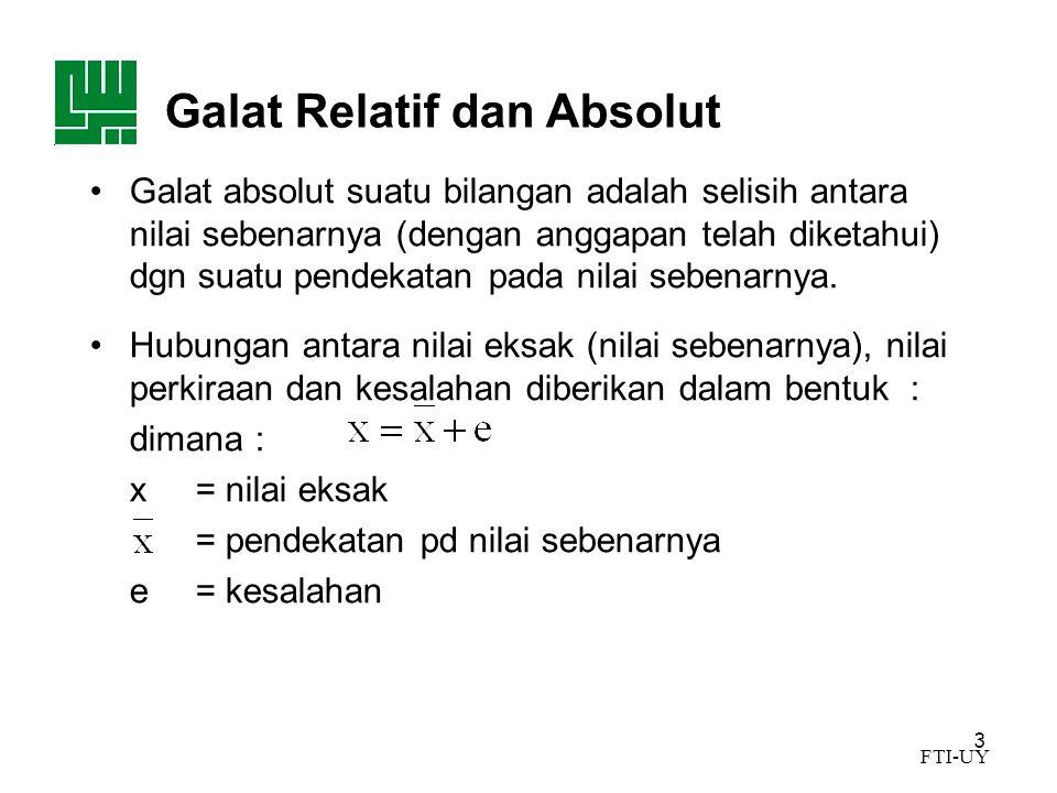 Galat Relatif dan Absolut