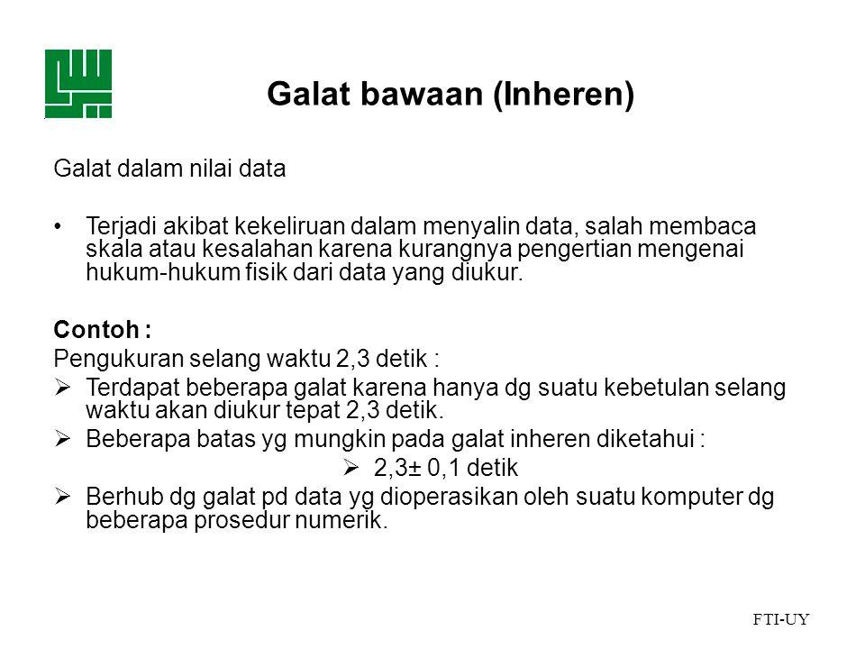 Galat bawaan (Inheren)