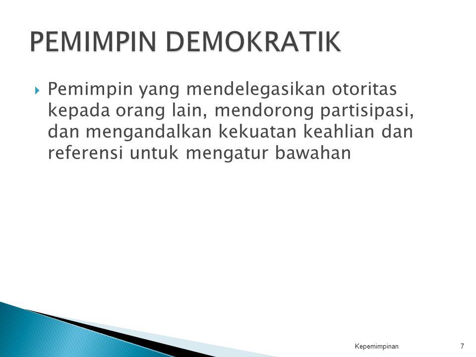 PEMIMPIN DEMOKRATIK