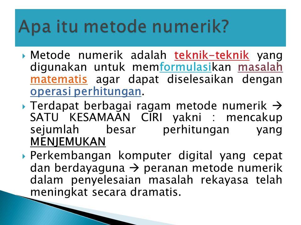 Apa itu metode numerik
