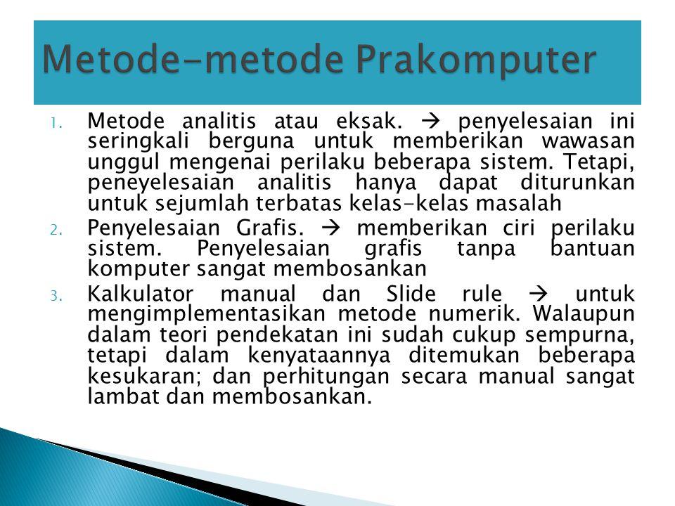 Metode-metode Prakomputer