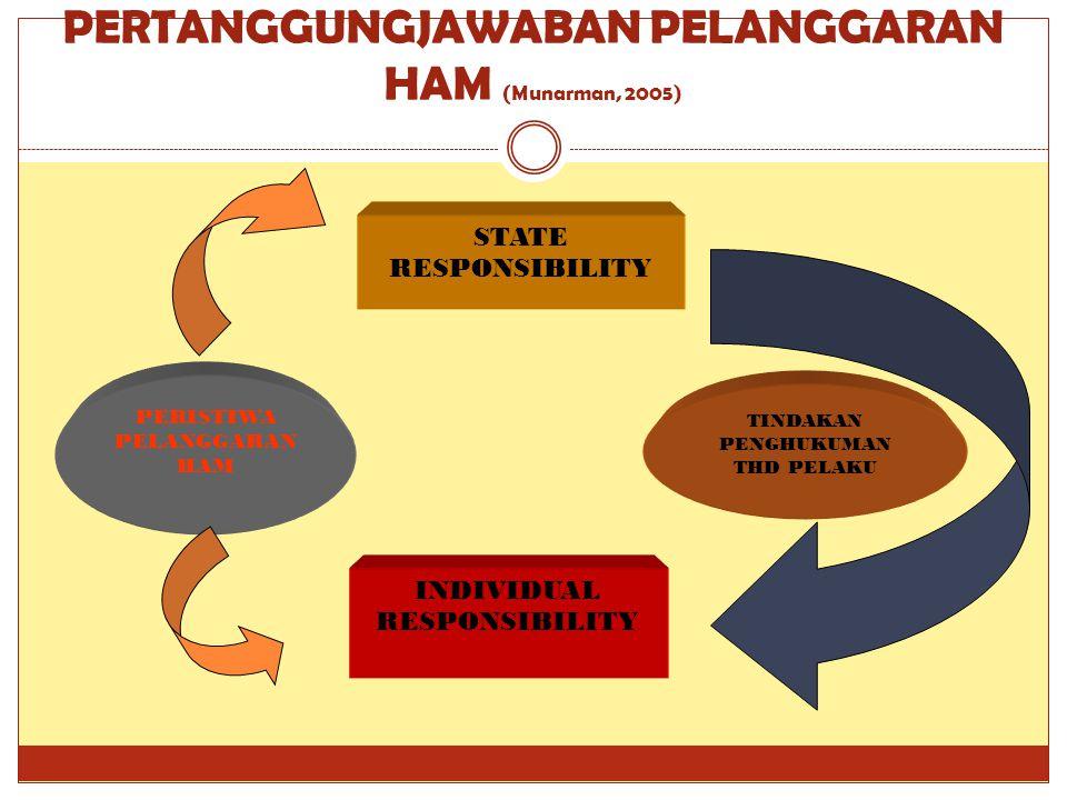 PERTANGGUNGJAWABAN PELANGGARAN HAM (Munarman, 2005)
