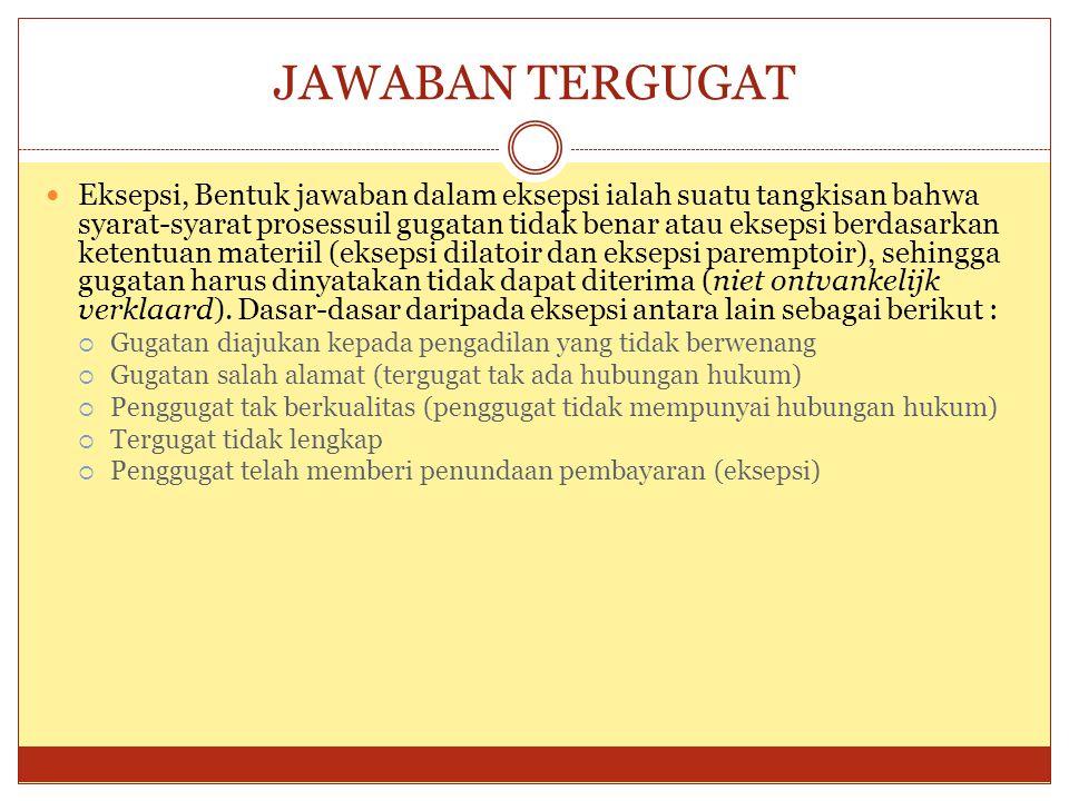 JAWABAN TERGUGAT