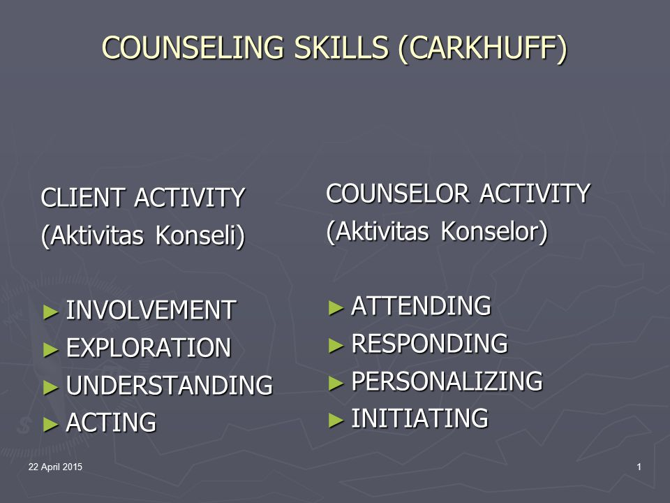 COUNSELING SKILLS (CARKHUFF)