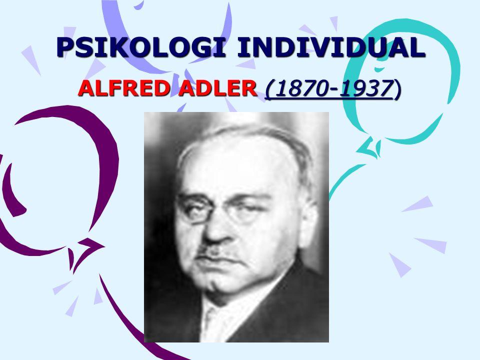 PSIKOLOGI INDIVIDUAL ALFRED ADLER (1870-1937)