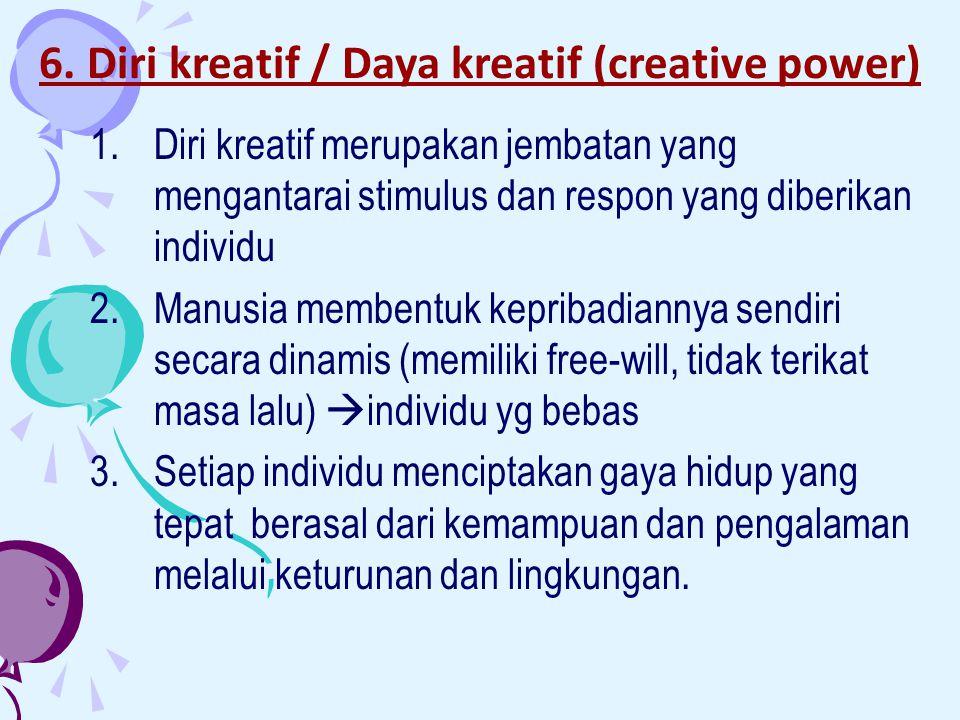 6. Diri kreatif / Daya kreatif (creative power)