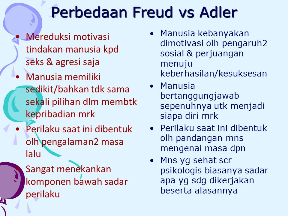 Perbedaan Freud vs Adler
