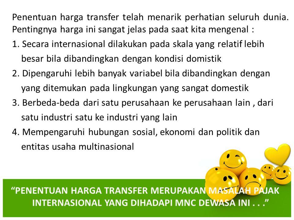 Penentuan harga transfer telah menarik perhatian seluruh dunia