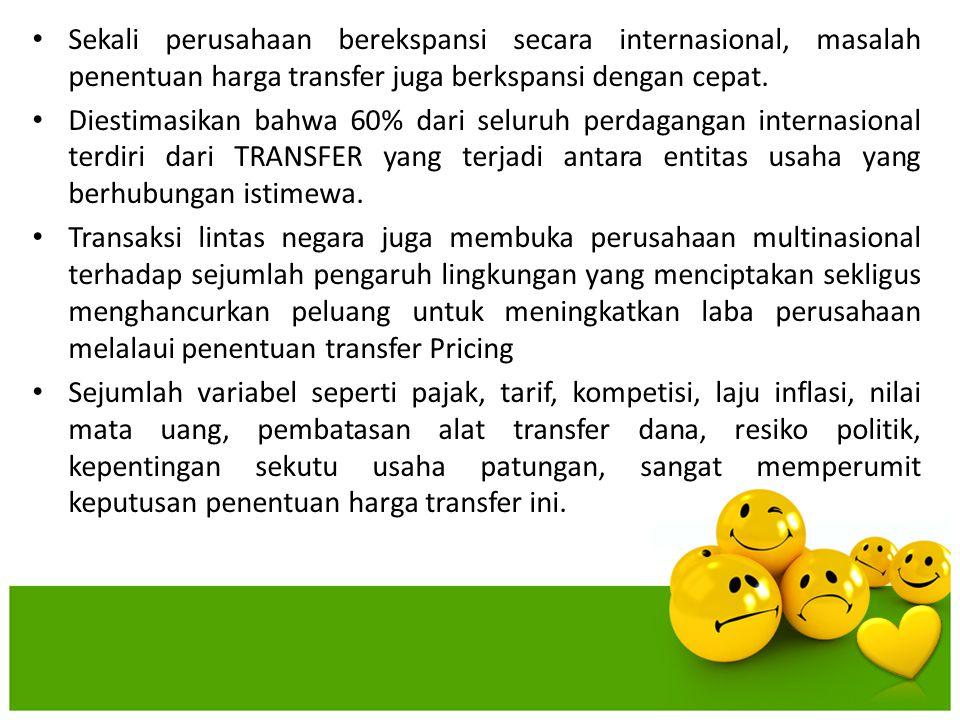Sekali perusahaan berekspansi secara internasional, masalah penentuan harga transfer juga berkspansi dengan cepat.