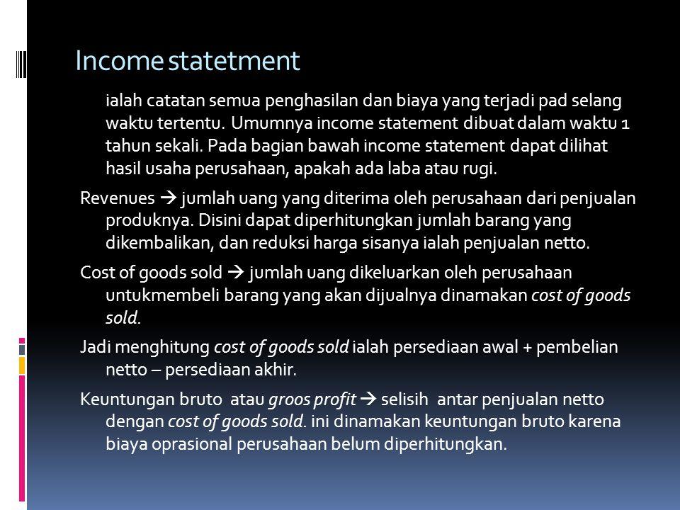 Income statetment