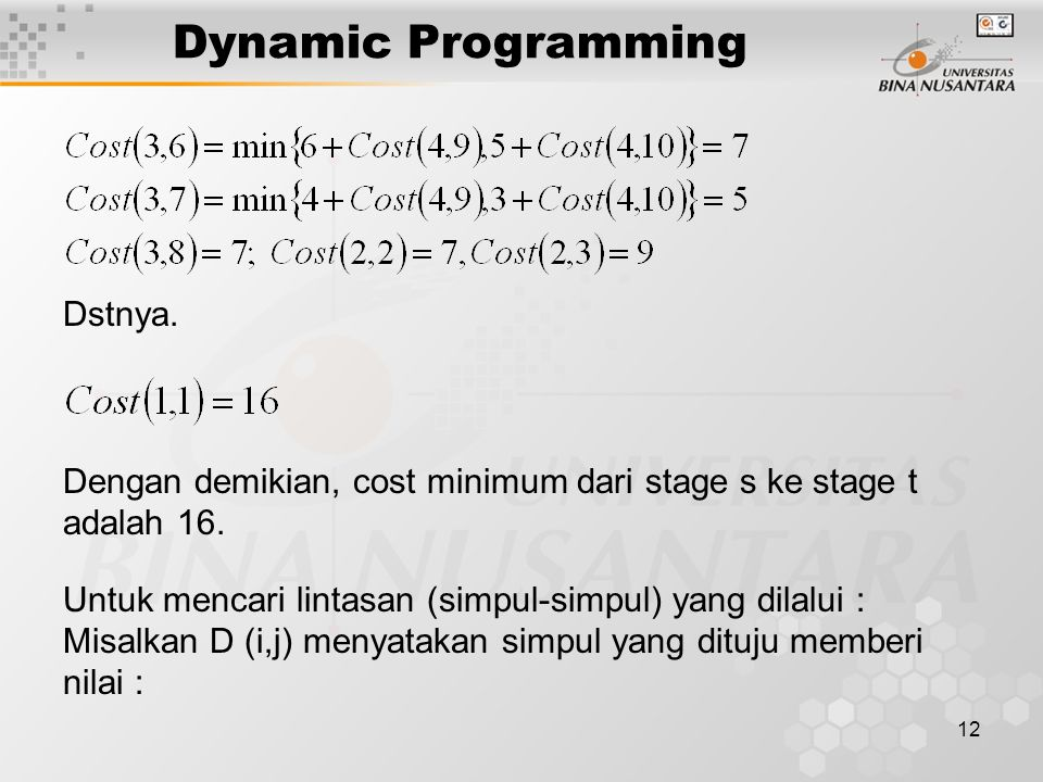 Dynamic Programming Dstnya.