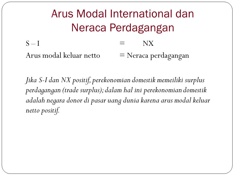 Arus Modal International dan Neraca Perdagangan