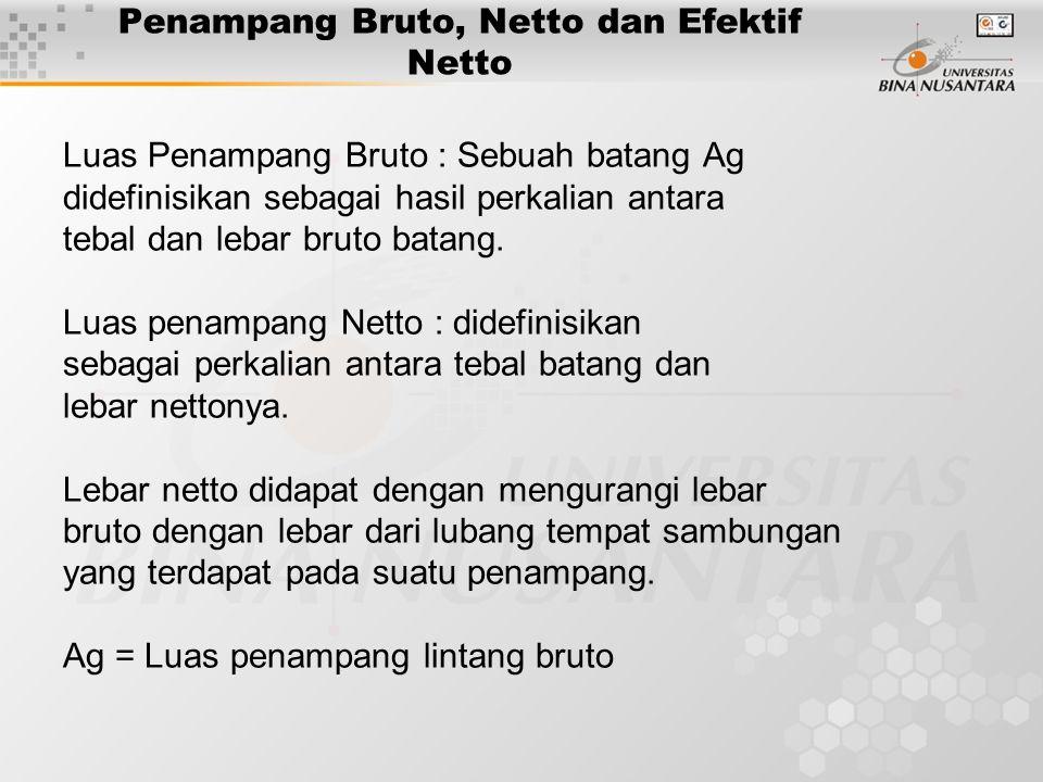 Penampang Bruto, Netto dan Efektif Netto