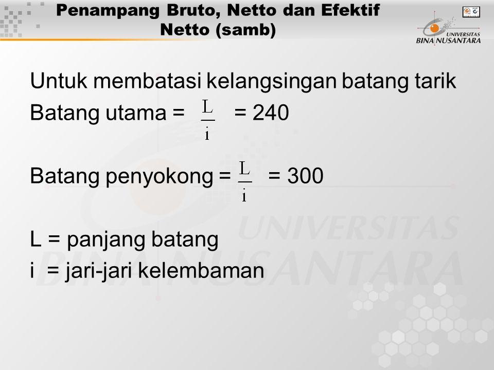 Penampang Bruto, Netto dan Efektif Netto (samb)