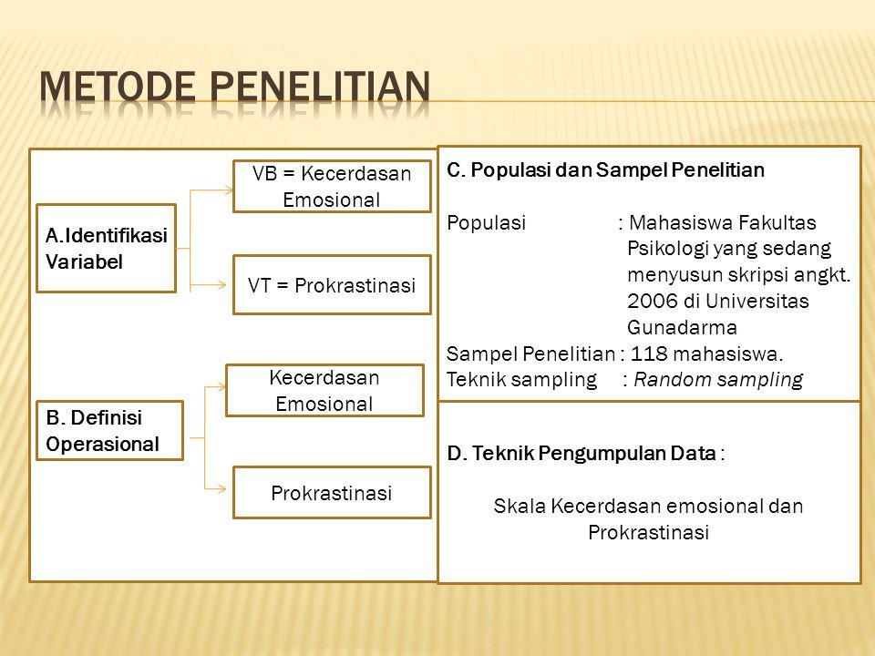 METODE PENELITIAN C. Populasi dan Sampel Penelitian