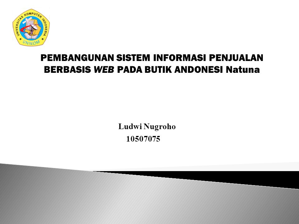 PEMBANGUNAN SISTEM INFORMASI PENJUALAN BERBASIS WEB PADA BUTIK ANDONESI Natuna