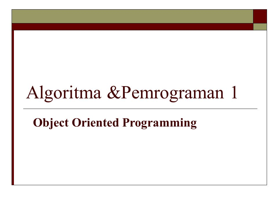 Algoritma &Pemrograman 1