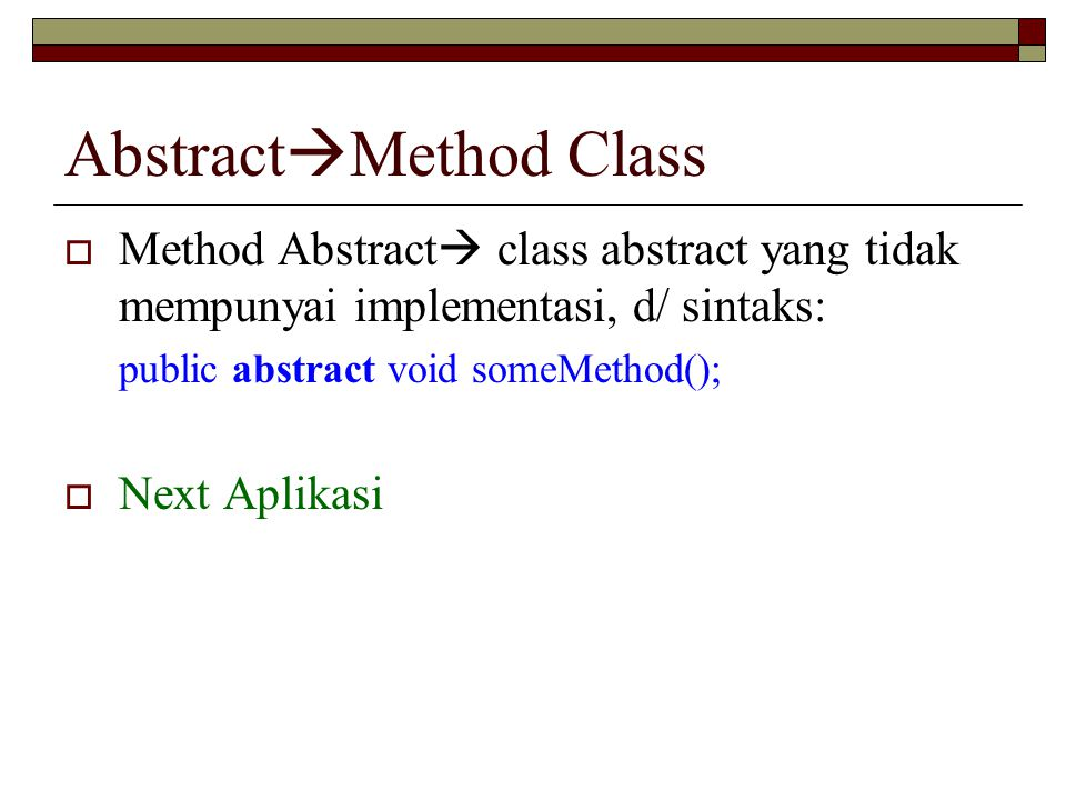 AbstractMethod Class