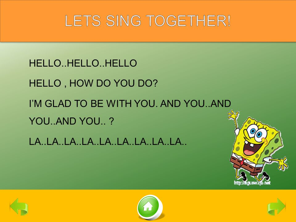 LETS SING TOGETHER!