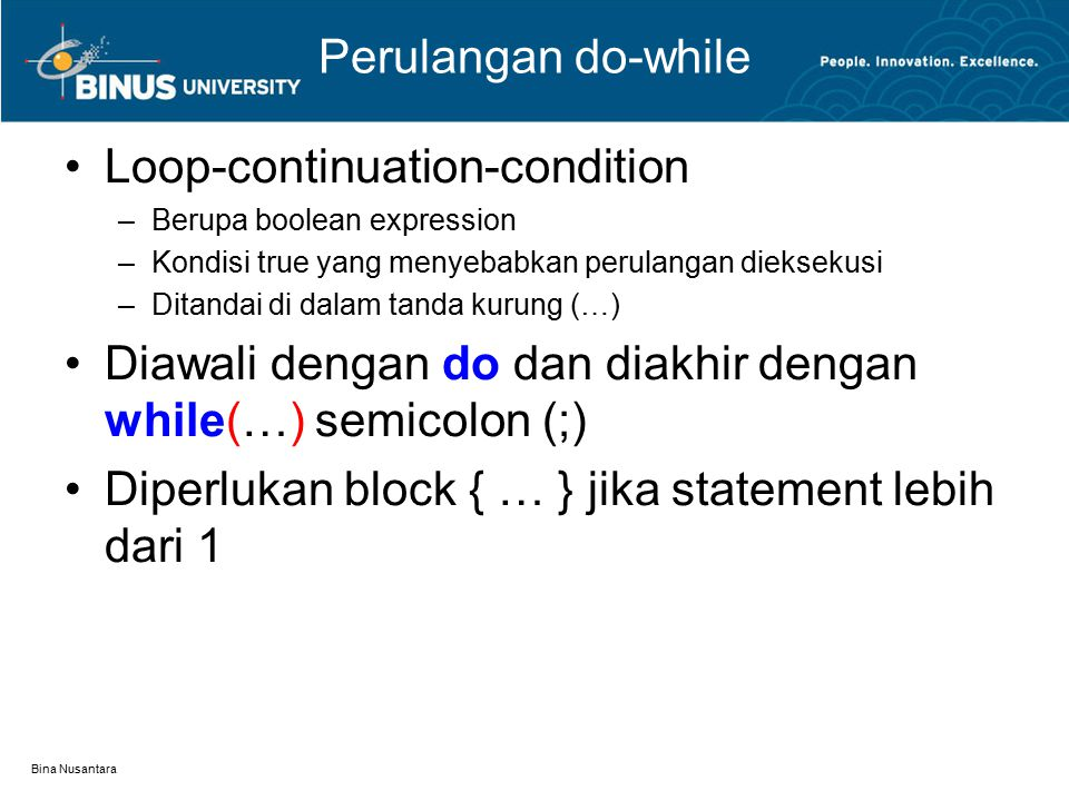 Loop-continuation-condition