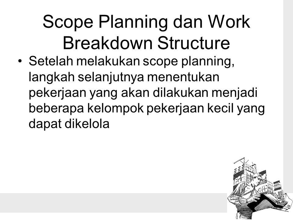Scope Planning dan Work Breakdown Structure