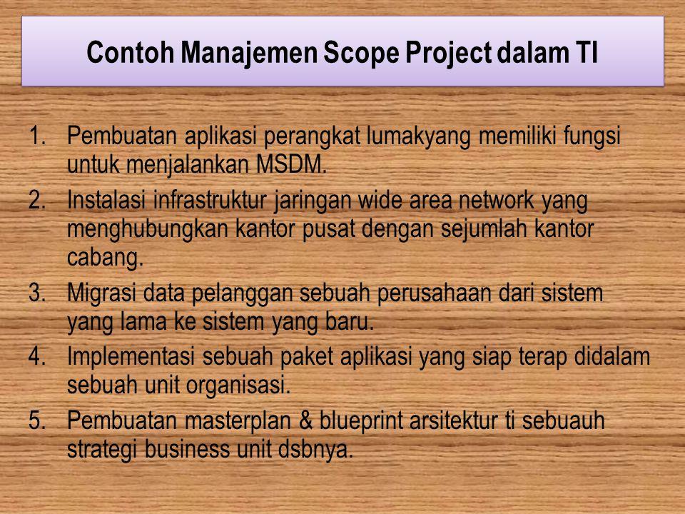 Contoh Manajemen Scope Project dalam TI