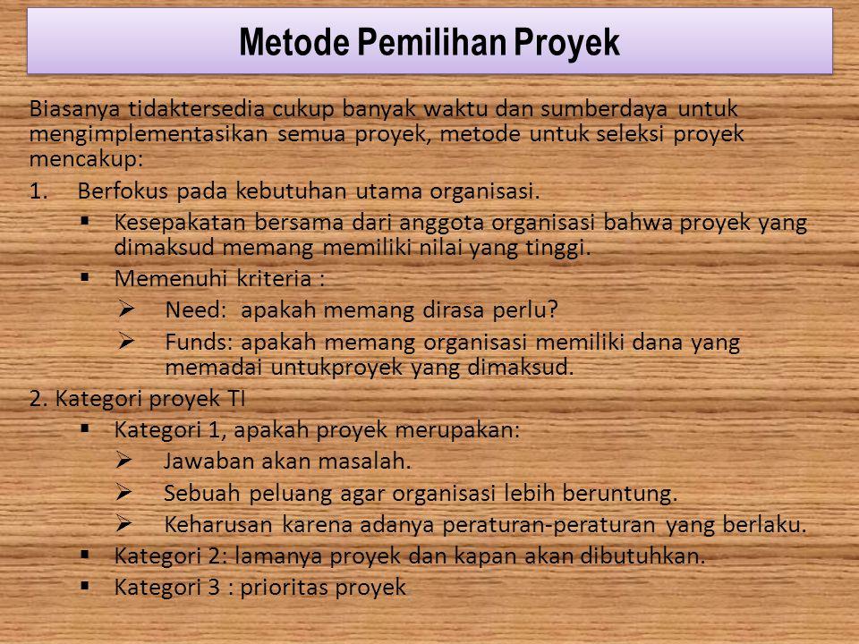 Metode Pemilihan Proyek