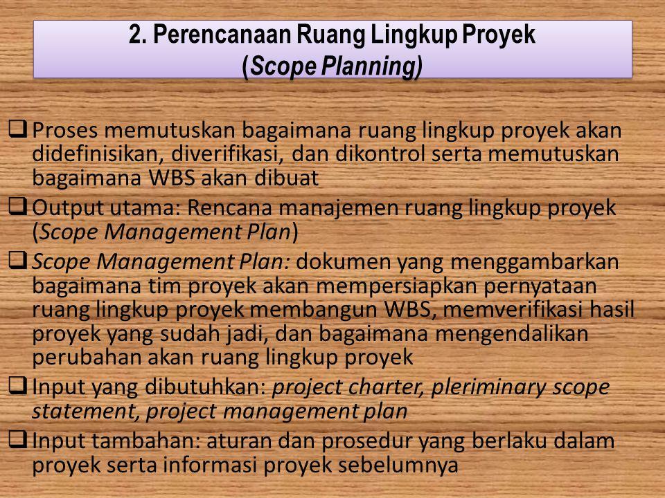 2. Perencanaan Ruang Lingkup Proyek (Scope Planning)