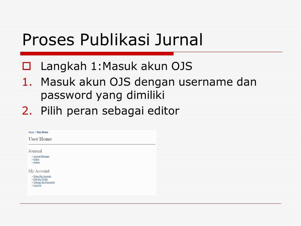 Proses Publikasi Jurnal